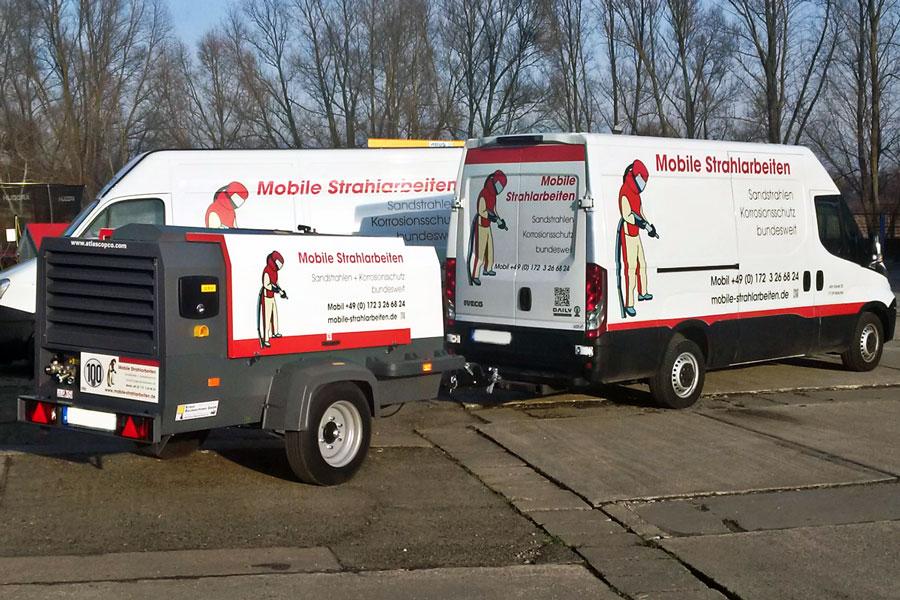 Mobiles Sandstrahlen - Einsatzfahrzeuge